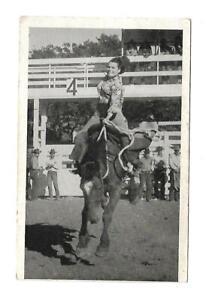 Woman Riding Bucking Bronco Real Photo Postcard Unused Cowgirl Cowboys Oregon