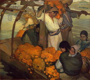 Saturnino Herran The offering Poster Reproduction Paintings Giclee Canvas Print