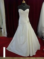 Taffeta V Neck A-line Wedding Dresses