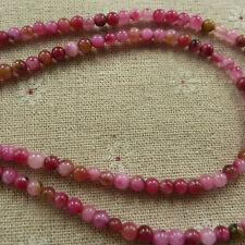 free ship 1200pcs colorful hot pink Natural Jade Spacer Loose beads 4mm ZH1284