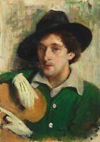 Painting Pen Portrait Artist Marc Chagall Giant Wall Canvas Art Print