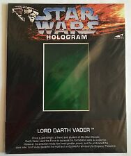 "Rare 1994 Star Wars Prismatic Sith Empire ""Lord Darth Vader"" Hologram *Sealed*"