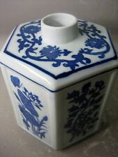 Oriental blue and white pottery bottle / vase