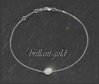 Brillant Armband aus Weißgold, 0,15ct Diamanten in Top Wesselton & Si, 10 Karat