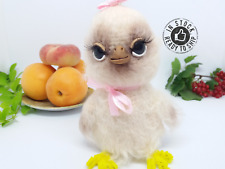 Crochet easter chick Chicken girl Crochet toy Knitted toy Easter collection