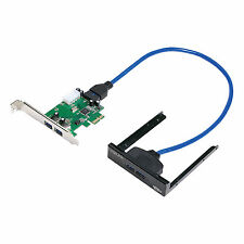 LogiLink pci express carte, 2x usb 3.0 incl. panneau avant pc0058