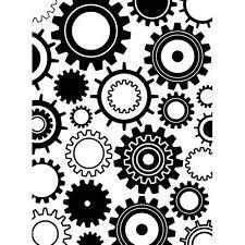 Steam Punk Gears Darice Embossing Folder for Cardmaking, Scrapbooking, etc