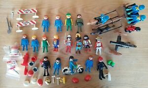 Vintage Playmobil Over 50 Large Bundle Of Mixed Figures and Extras Some 1974