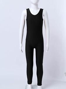 Kids Girls Suspender Overalls Sleeveless Jumpsuit Gymnastics Ballet Dancewear