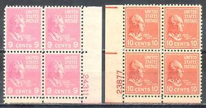 US Stamp (L177) Scott# 814-815, Mint NH OG, Nice Plate Blocks