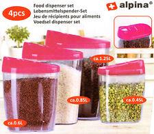 Alpina Vorratsdosen Set 4ltg. Schüttdose Lebensmittelspender Streudose Mehl Reis