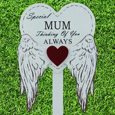 Special Mum Graveside Memorial Angel WIngs Tribute Grave Stick Marker 76167