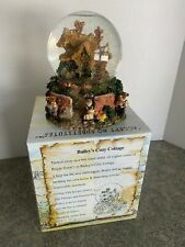 Boyds Bearly Built Villages Bailey's Cozy Cottage Snow Globe