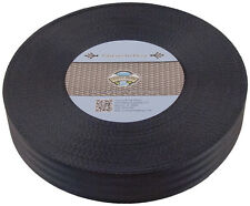 Country Brook Design® 2 Inch Seat-belt Black Polyester Webbing, 5 Yards