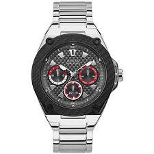 GUESS Men's 45mm Steel Bracelet & Case Quartz Grey Dial Analog Watch W1305G1