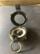 Vintage Antique U S Army Corp Engineers Brass Survey Compass-1918