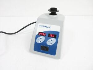 VWR 14005-824 DIGITAL VORTEX MIXER MINI VORTEXER ADJUSTABLE SPEED TIMER