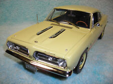 1/18 1968 PLYMOUTH BARRACUDA IN LIGHT YELLOWORANGE STRIPE BY HIGH WAY 61.
