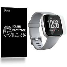 Fitbit Versa [2-PACK BISEN] Tempered Glass Screen Protector Saver Shield Cover