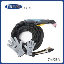 60amp Sg55 Ag60 Air Plasma Cutter Cutting Torch Gun Head And Body 23feet Amp 7m
