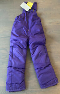 all in motion girls snow bib- Wind/water Resistant- Small- Purple- New!