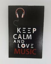 LOVE MUSIC funny joke pic Design Vintage Poster Magnet Fridge Collectible