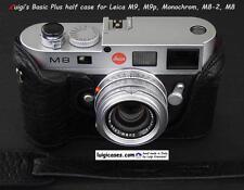 LUIGI NEW BLACK BASIC PLUS ITALY CASE for LEICA MONOCHROM1,M9P,M9,M8+GRIP+STRAP
