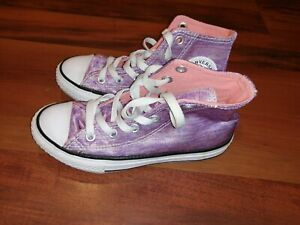 Converse All Star Chuck Taylor High Top Boys Girls Sneakers Pink Purple Youth 13