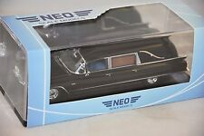 NEO 46840 - Cadillac Serie 62 Miller Meteor véhicule funéraire noir - 1962  1/43