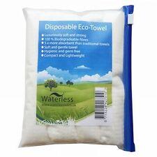 Nilaqua sans eau eco serviettes jetables-Pack de 4 serviettes de voyage biodégradables