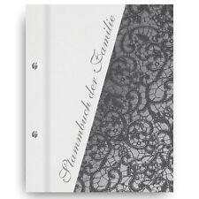 Stammbuch Calla Time weiß A5 Einband grau Familienbuch Stammbuch der Familie