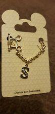 S LETTER Disney Mickey Mouse Girls Women's Swarovski Crystal Bracelet with Bonus