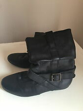 Barratts 100% Leather Pull On Boots for Women