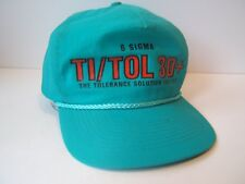 6 Sigma Ti/Tol 3D+ Tolerance Solution Hat Vintage Teal Snapback Baseball Cap