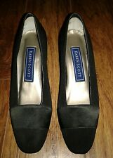 KAREN SCOTT Black Suede & fabric Pump heels Size 6 Classic Career Work Shoes,NWT