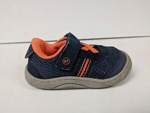 Stride Rite Jackson Sneakers, Orange/Navy, Toddlers 5 M