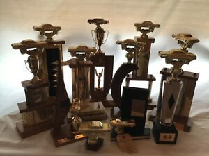 drag racing trophies, 10 trophies won at Henderson NV Int. Speedway