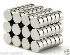 100PCS Strong N50 1/4x1/8 Inch Rare Earth Neodymium Cylinder Magnet