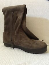 stuart weitzman playtime brown swamp suede oer the knee boots size 7 M