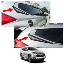 Rear Window Garnish Black Trim For Mitsubishi Pajero Montero Sport 2016 - 2017