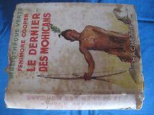 Le Dernier des Mohicans - Fenimore Cooper - Bibliothèque Verte Hachette - 1951