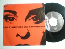 LISA STANSFIELD This Is The Right Time ESPAGNE 45 1989