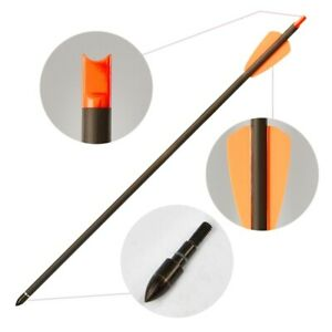 """6/12X 15inch Bolts Arrows Carbon Arrows Archery 2"""" Vanes Hunting Target"""