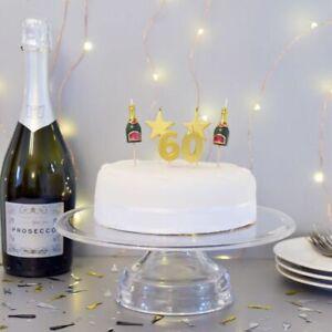 PREMIUM 3D 60th Milestone Cake Candles, Birthday Cake, Cake Topper