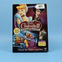 Cinderella III - A Twist In Time - Walt Disney DVD - 3 - Bilingual - SLIPCOVER