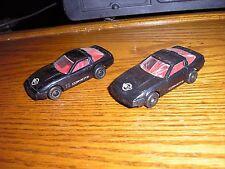 Rare LOT of 2 Different Vintage Nova car 1980's Chevy Corvette ZR-1 sport cars