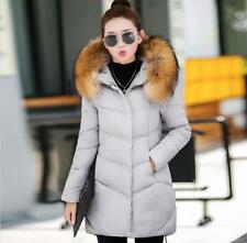 2017 Woman Winter coat Women Solid Color Hooded Fur Collar Down Long Jacket 003