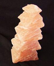 große orangene Selenit Tanne geschliffen Gips Dekoration Deko dekorativ Stein