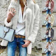 Damen Flauschigen Mantel Faux Pelz Jacken Teddy Bär Jumper Warme Winter Outwear