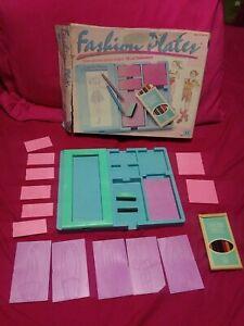 Vintage fashion plates Hasbro 1989 with original box original colored pencil